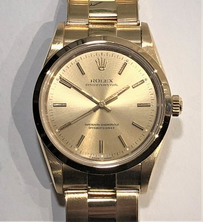Kommer i januari: Rolex Oyster  Perpetual (Automat) Superlative Chronometer Officially Certified i 18k. - Klicka för större bild
